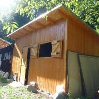 zahradní domek na nářadí a dřevo