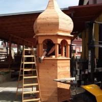 dřevěná konstrukce před klempířskými pracemi