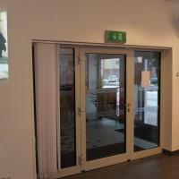 vstupní prosklené dveře