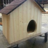 zateplená psí bouda masiv 100x60x70, obložená palubkami